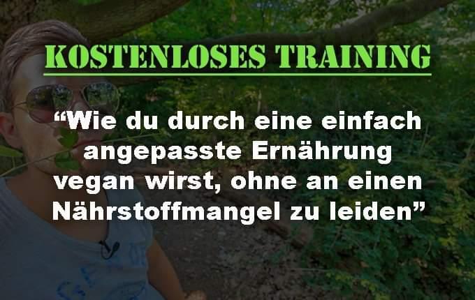 """Live Training """"Vollwertige vegane Ernährung ohne Kopfzerbrechen"""""""